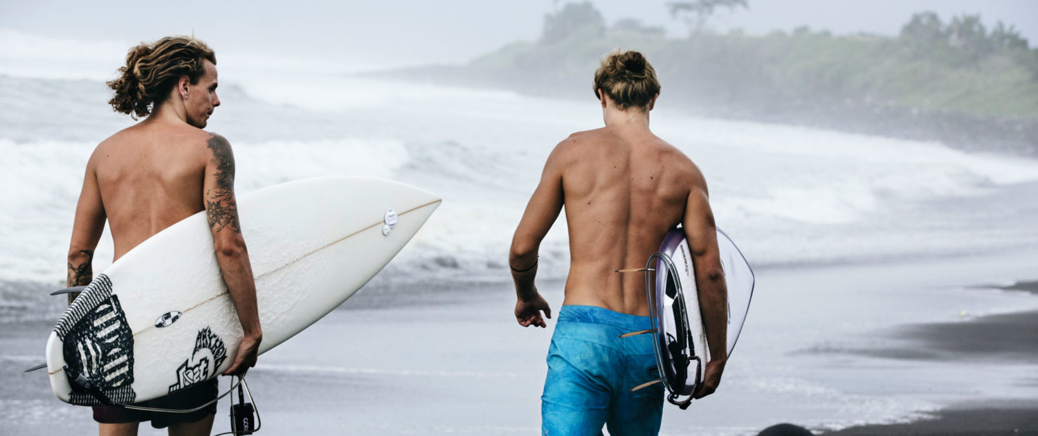 On the way to the surf in Bali