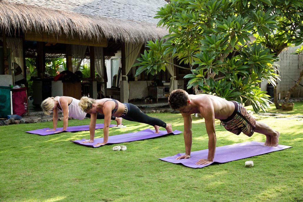 Vinyasa yoga in Bali