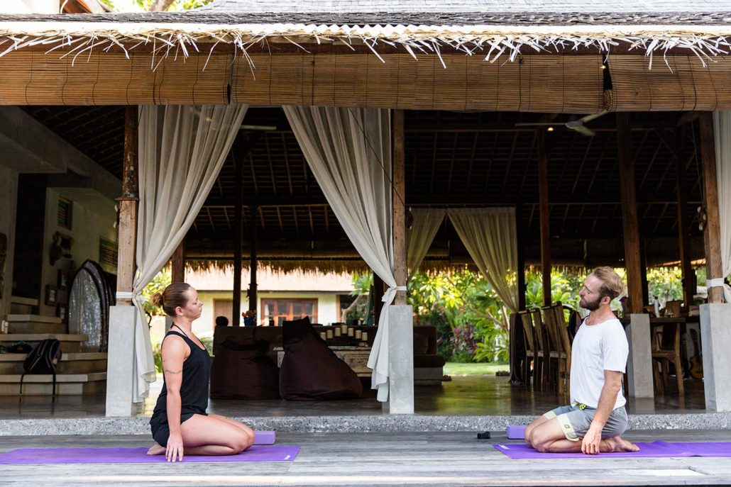 Yoga at the villa