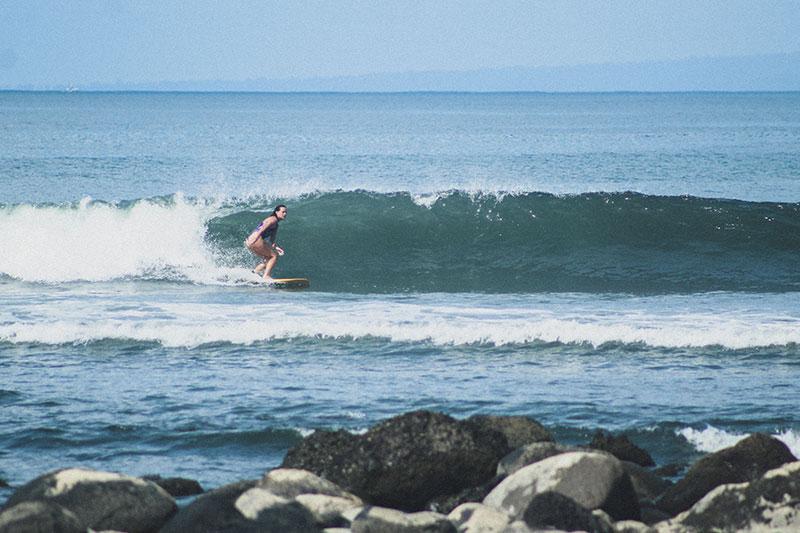 Girls surfing Bali
